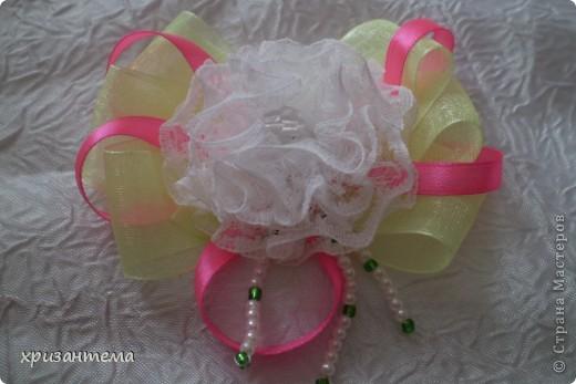 Бантики для повязки на голову. фото 4