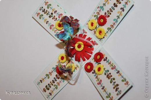 Очень мне понравились такие коробочки с сюрпризом. Эту сделали для нашей бабушки на день рождения. Свечка настоящая. Высота кусочка тортика 3,5см. фото 6