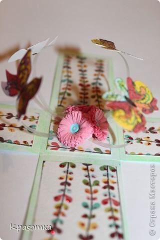 Очень мне понравились такие коробочки с сюрпризом. Эту сделали для нашей бабушки на день рождения. Свечка настоящая. Высота кусочка тортика 3,5см. фото 8