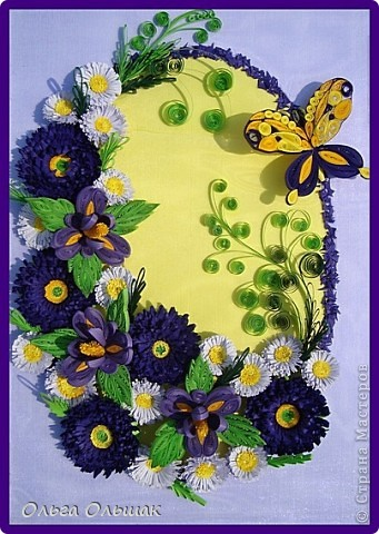 Дорогие мастерицы!На этот раз у меня родилась цветочная композиция   в фиолетово-жёлтых тонах. Наконец -то дождалась солнышка, перефотографировала работу.Это окончательный вариант.   фото 1