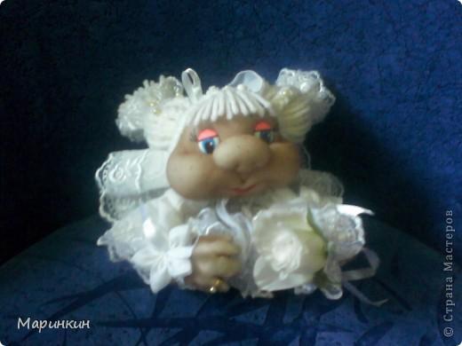 Меня попросили сделать невесту и вот что у меня получилось. Прошу прощения за качество фотографий.  фото 1