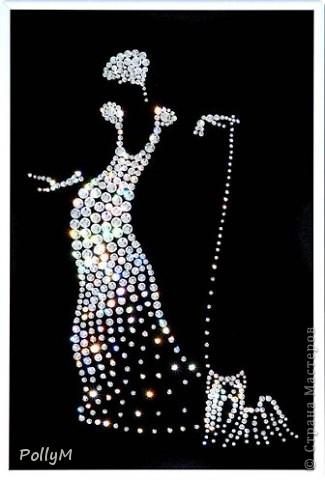 Вот такая картина получилась по мотивам картины из кристаллов Сваровски фото 3