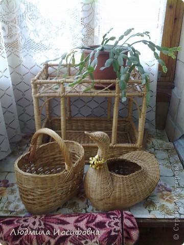 Уточка - ваза для цветов, корзинка и подставка для цветов. фото 1