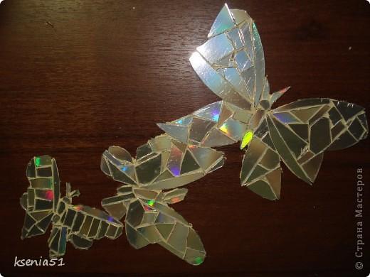 Наклейки -   мозаика из CD-дисков  фото 3