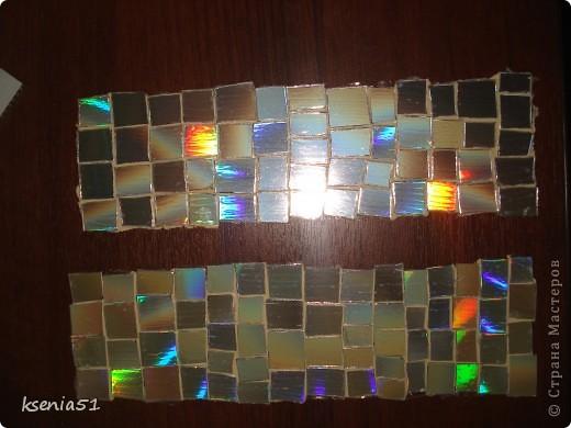 Наклейки -   мозаика из CD-дисков  фото 1