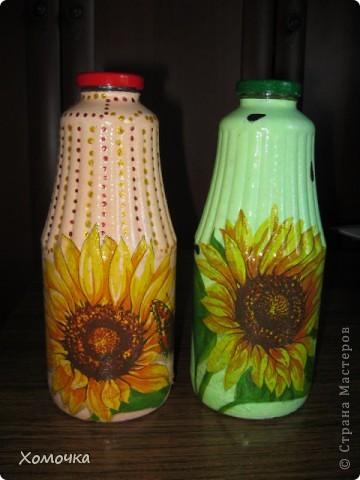 Две бутылочки из одной салфетки.  фото 1