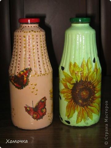 Две бутылочки из одной салфетки.  фото 2