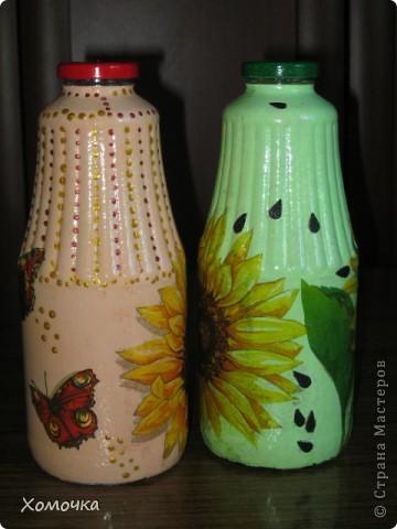 Две бутылочки из одной салфетки.  фото 3