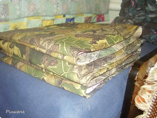 Вот такие подушки на лавку у меня получились фото 5