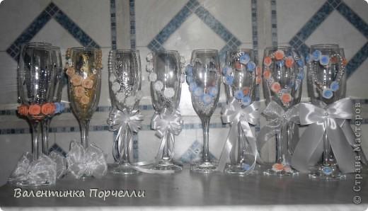 Декор предметов Свадьба Лепка И опять заказы И опять не сплю Бисер Бусинки Ленты Пластика фото 1.