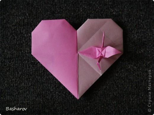 Сердечки оригами Бумага