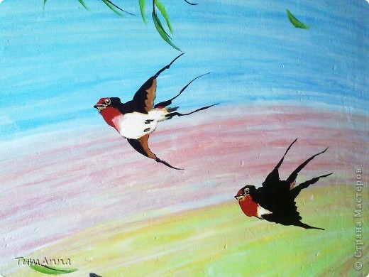 Весенний ветерок (Настенная живопись) фото 2