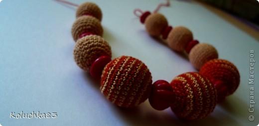 Еще одни бусики были сделаны в подарок нашей массажистке.  фото 3