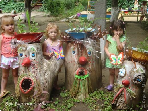 Украшаем участки детского сада фото 7