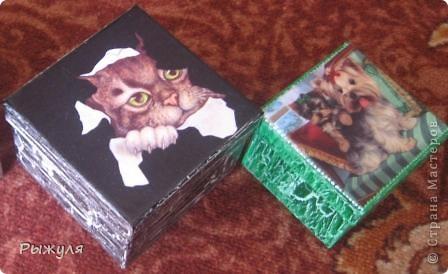 Шкатулочки из Икеи картонные фото 1