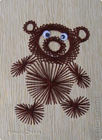 Три медведя вышиты по одному шаблону. фото 1