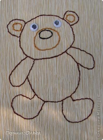 Три медведя вышиты по одному шаблону. фото 2