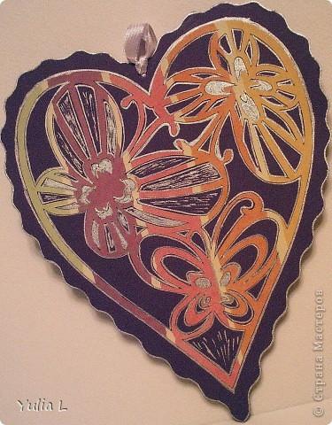 """Небольшая коллекция """"сердечных"""" открыток. Впервые попробовала технику вырезания. Шаблоны здесь http://stranamasterov.ru/node/44264. Бабочки вырезаны из скрап-бумаги, фон - двусторонний картон. фото 2"""
