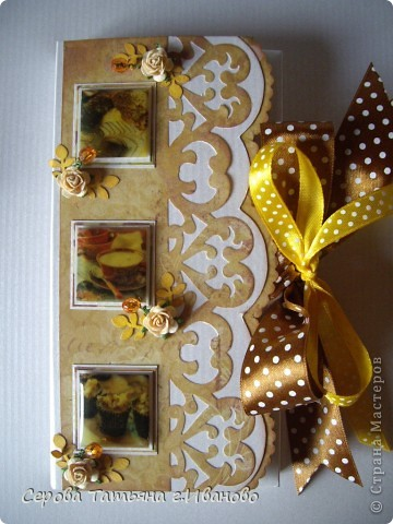 Всем доброго времени суток! Сегодня я к вам с комплектом: открыткой и шоколадницей в светло кофейных тонах. фото 2