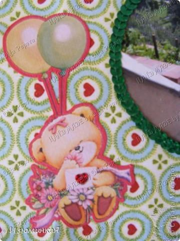 Это коробочка, в которой любимый получил свой подарок :) Украшения - атласные ленты и квиллинговый цветочек. фото 28