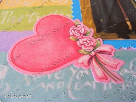 Это коробочка, в которой любимый получил свой подарок :) Украшения - атласные ленты и квиллинговый цветочек. фото 40