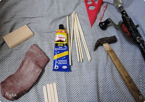 Стульчик и подставка для кукол МК фото 5