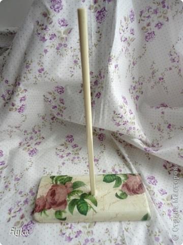 Стульчик и подставка для кукол МК фото 3