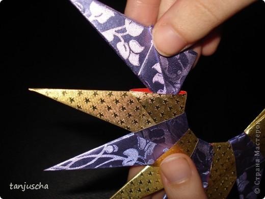 На выходных осваивала оригами. Давно поняла что оригами это не моё поэтому для меня эти звёздочки маленькая победа. Так как они делаются очень легко решила сделать МК.Может кому пригодится фото 11