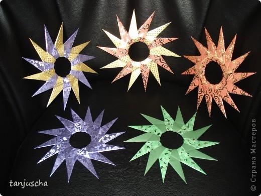 На выходных осваивала оригами. Давно поняла что оригами это не моё поэтому для меня эти звёздочки маленькая победа. Так как они делаются очень легко решила сделать МК.Может кому пригодится фото 13