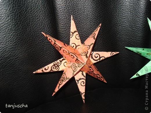На выходных осваивала оригами. Давно поняла что оригами это не моё поэтому для меня эти звёздочки маленькая победа. Так как они делаются очень легко решила сделать МК.Может кому пригодится фото 15