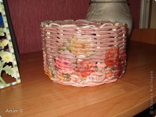 Вот такие корзинки я сплела для подарков к 8 марта. фото 2