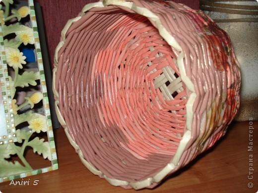 Вот такие корзинки я сплела для подарков к 8 марта. фото 3