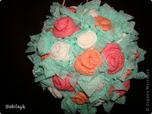 Шар из цветов фото 3