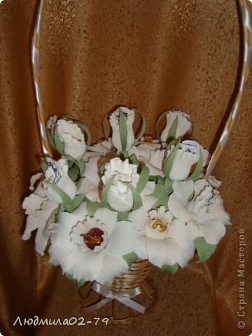 Корзинка из 15 роз))) фото 3