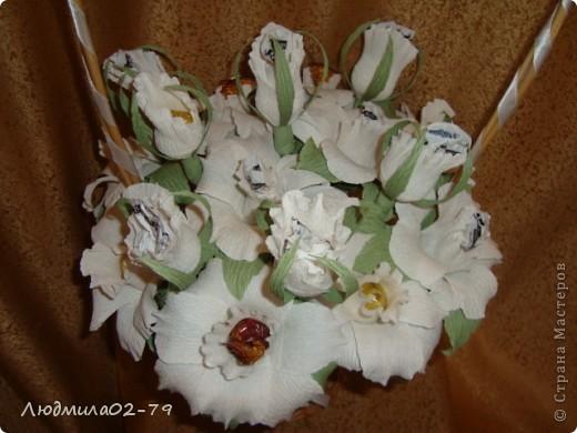 Корзинка из 15 роз))) фото 2