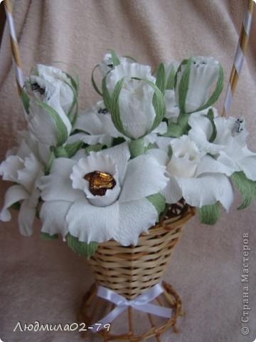 Корзинка из 15 роз))) фото 1