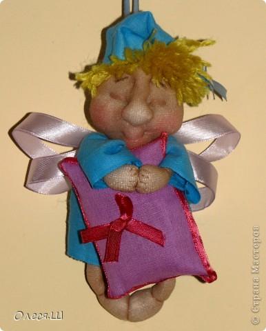 Здравствуйте! Сшила сегодня маленькую куколку ангелочка сплюшку по МК Ликмы. Получился вот такой человечек))) фото 1