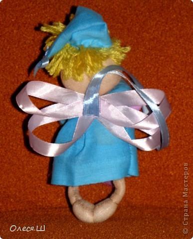 Здравствуйте! Сшила сегодня маленькую куколку ангелочка сплюшку по МК Ликмы. Получился вот такой человечек))) фото 4