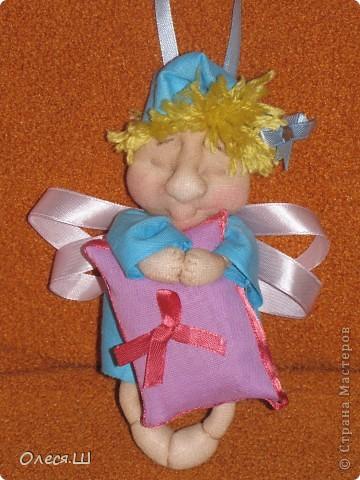 Здравствуйте! Сшила сегодня маленькую куколку ангелочка сплюшку по МК Ликмы. Получился вот такой человечек))) фото 5
