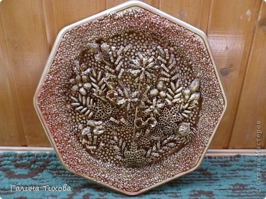 Рамка для фото, декорированная макаронами. фото 11