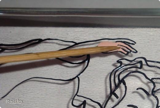 Декор предметов Мастер-класс Витраж Роспись Роспись вазы глухими витражными красками Краска Стекло фото 7
