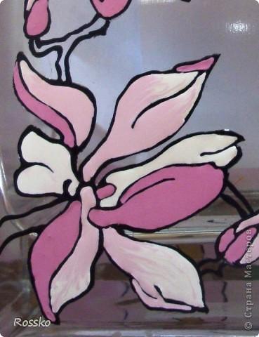 Декор предметов Мастер-класс Витраж Роспись Роспись вазы глухими витражными красками Краска Стекло фото 17