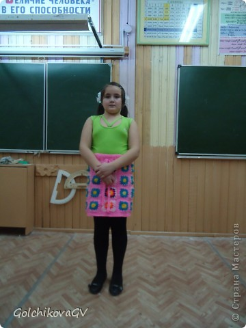 """Это фото было сделано перед конкурсом """"Леди стиль"""", в котором девочки - четвероклассницы  приняли участие в номинации """"Веселые петельки"""".  фото 6"""
