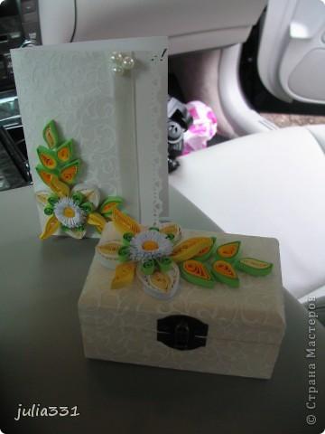 Открытка и коробочка для денег. фото 1