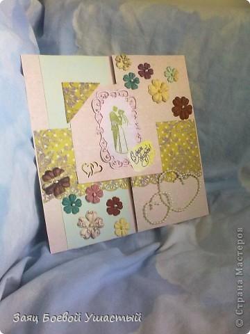Извеняюсь за качество фото, снято всё на телефон...  а открытка это достанется двоюродной сестре в день свадьбы  фото 1