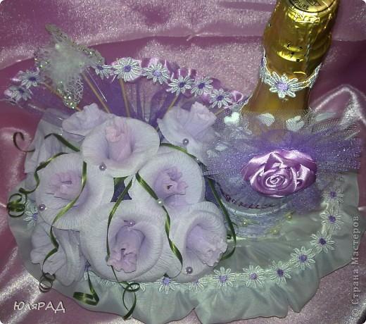 Такой подарочек я приготовила сестре на День рождения))) Сладкий букетик и шампусик))) фото 5