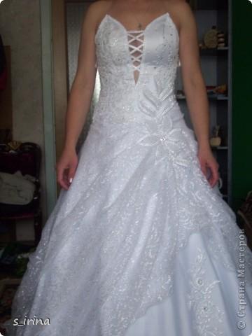Свадебные бокал по мотивам платья невесты фото 3