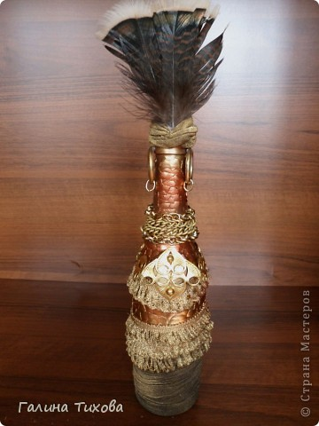 Вот такую бутылку-африканку легко смастерить, используя самые обычные подручные материал. фото 23