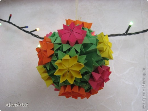 цветочная кусудама фото 2