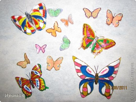 Бабочки из пластиковых бутылок фото 2
